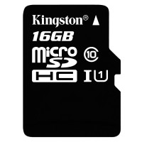 Карта памяти Kingston microSDHC 16GB, class 10
