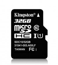 Карта памяти Kingston microSDHC 32GB, class 10